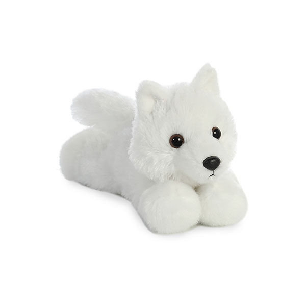 WHITE WOLF MINI FLOPSIE PLUSH