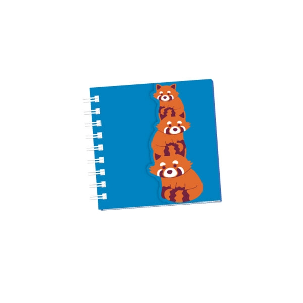 RED PANDA GLITTER GLAM NOTE PAD