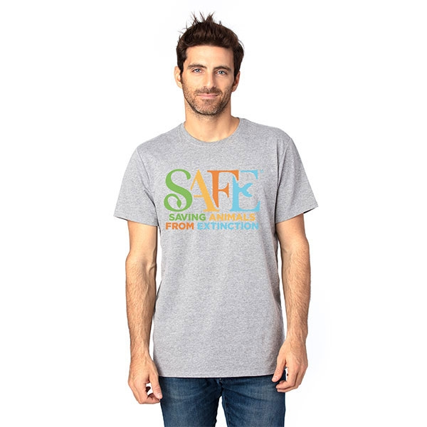 ADULT SHORT SLEEVE TEE SAFE LOGO HEATHER GREY