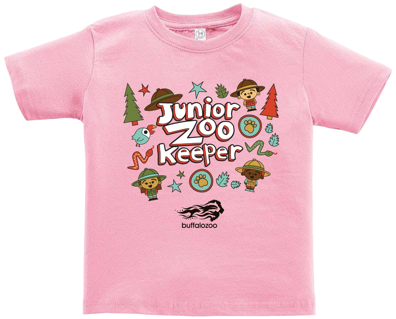 TODDLER SHORT SLEEVE TEE JUNIOR ZOOKEEPER PINK