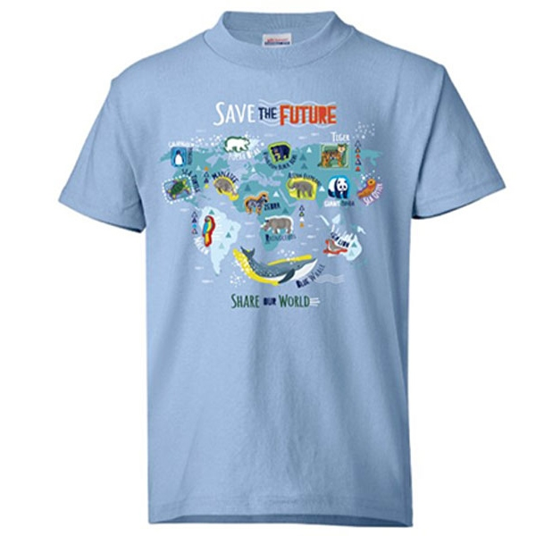 YOUTH SHORT SLEEVE TEE SAVE THE FUTURE BLUE