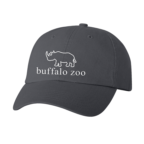 ADULT BLACK RHINO HAT CHARCOAL