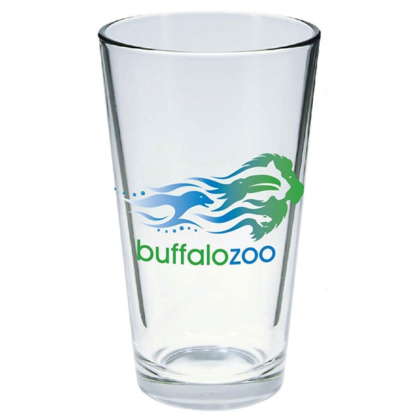 PINT GLASS WITH BUFFALO ZOO LOGO
