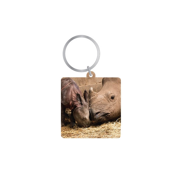 RHINO FACE TO FACE KEY CHAIN