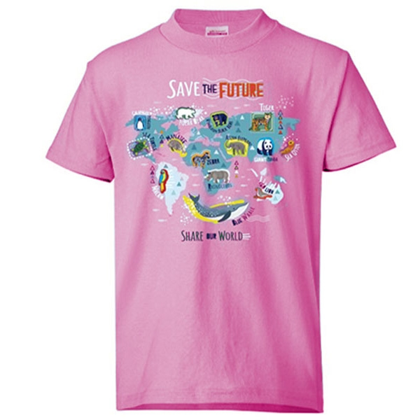 YOUTH SHORT SLEEVE TEE SAVE THE FUTURE PINK