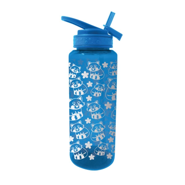 RED PANDA GLITTER GLAM WATER BOTTLE