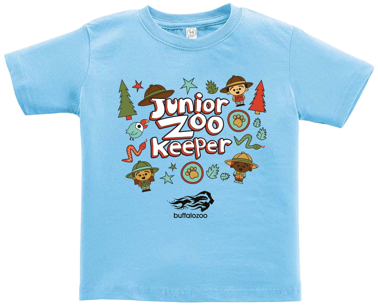 TODDLER SHORT SLEEVE TEE JUNIOR ZOOKEEPER BLUE