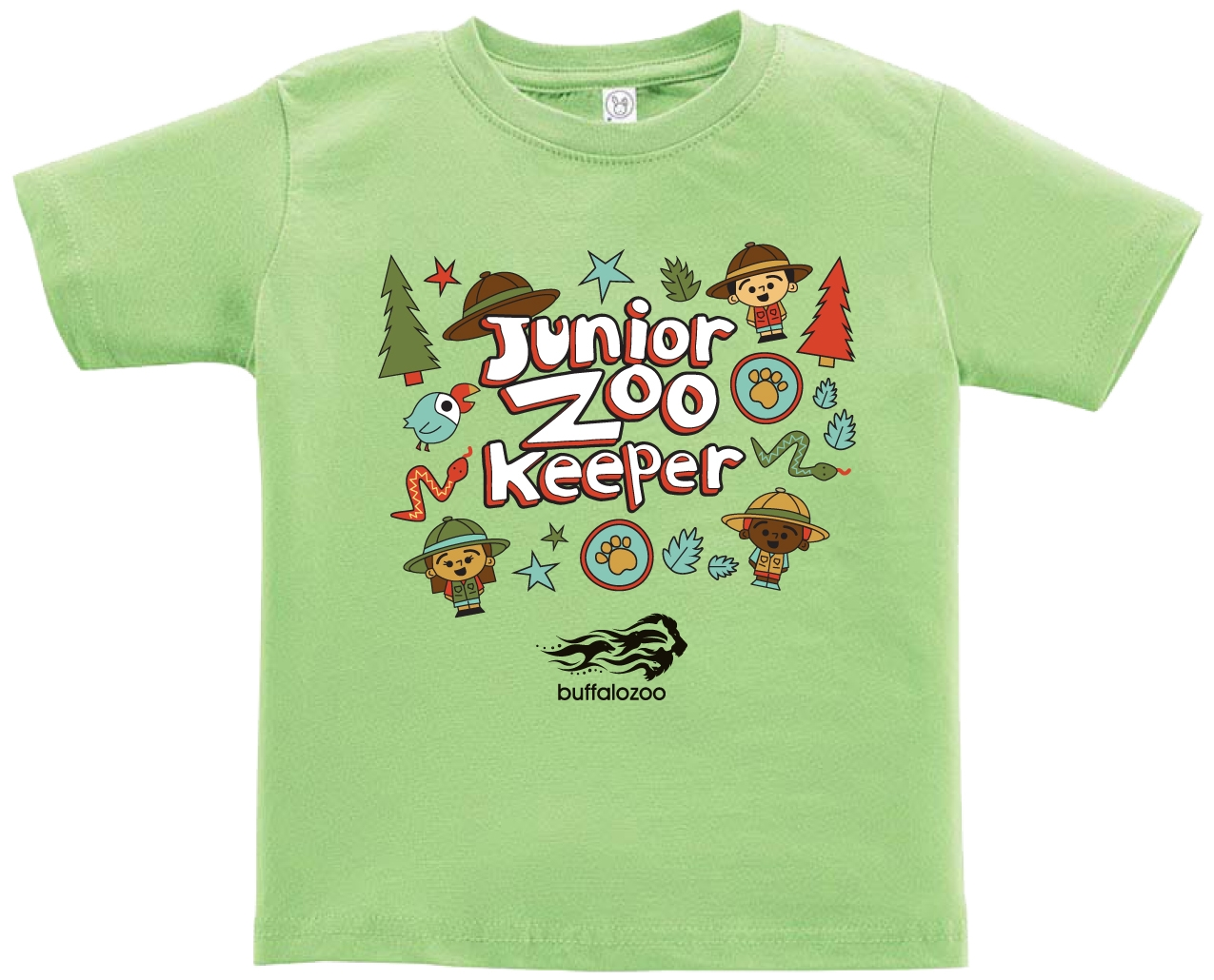 TODDLER SHORT SLEEVE TEE JUNIOR ZOOKEEPER KEYLIME