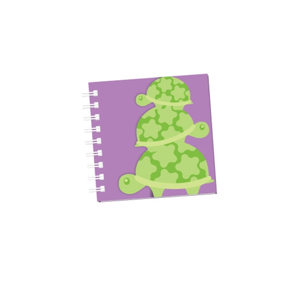 TURTLE GLITTER GLAM NOTE PAD