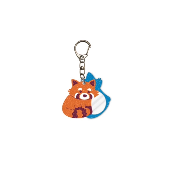 RED PANDA GLITTER GLAM KEY CHAIN